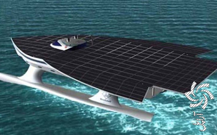 قایق خورشیدی مدرن برق خورشیدی