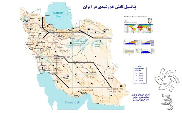 پتانسیل تابش انرژی در ایران برق خورشیدی
