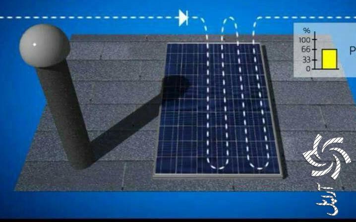 تاثیر سایه بر توان خروجی صفحات فتوولتائیکبرق خورشیدی سولار