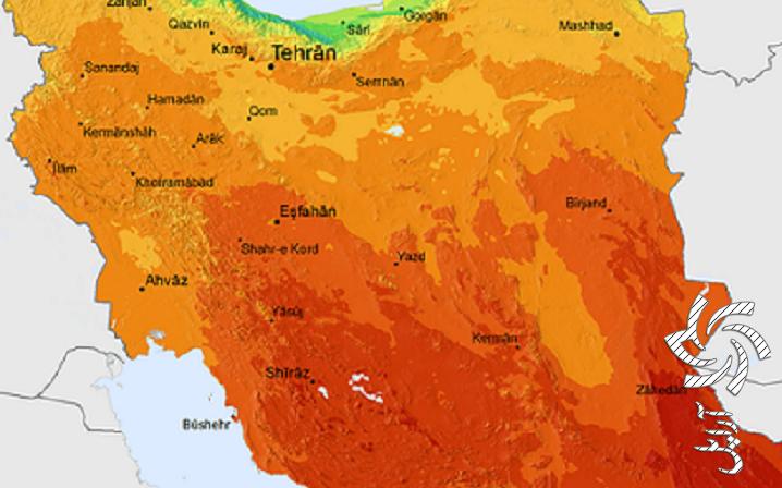 نقشه تابش روزانه خورشید در ایران برق خورشیدی سولار