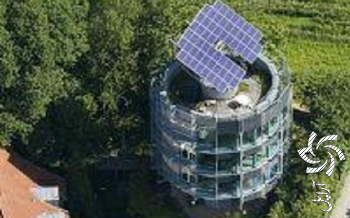 اولین خانه دوار با حرکت خورشیدبرق خورشیدی سولار