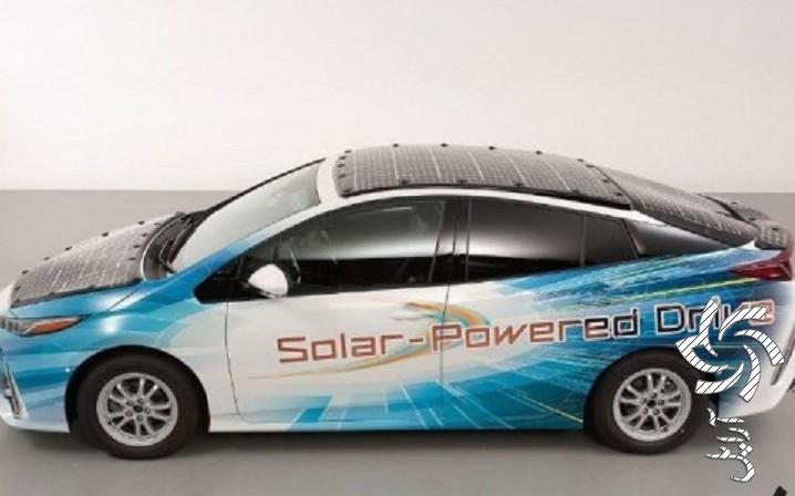 آزمایش مدل تویوتا پریوس پرایم مجهز به پنلو باتری خورشیدیبرق خورشیدی سولار