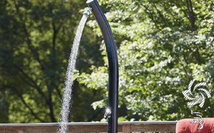 دوش آب خورشیدی  برق خورشیدی