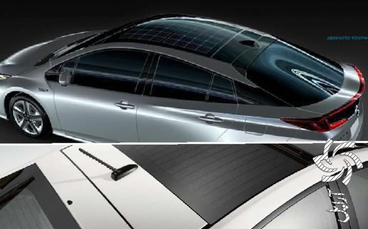 سقف خورشیدی ماشین برق خورشیدی