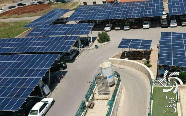 نصب پنل روی سقف و پارکینگ ها  آموزش