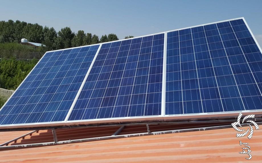 تامین برق ویلا دوتصویر برق خورشیدی