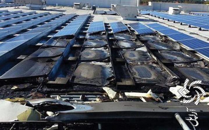 آتش سوزی نیروگاه خورشیدی  برق خورشیدی