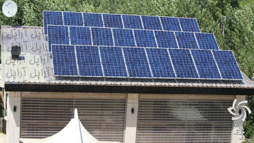نیروگاه 7 کیلوواتی آفگرید تصویر برق خورشیدی